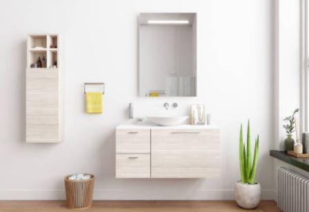 Baños con Lavabo y Espejo